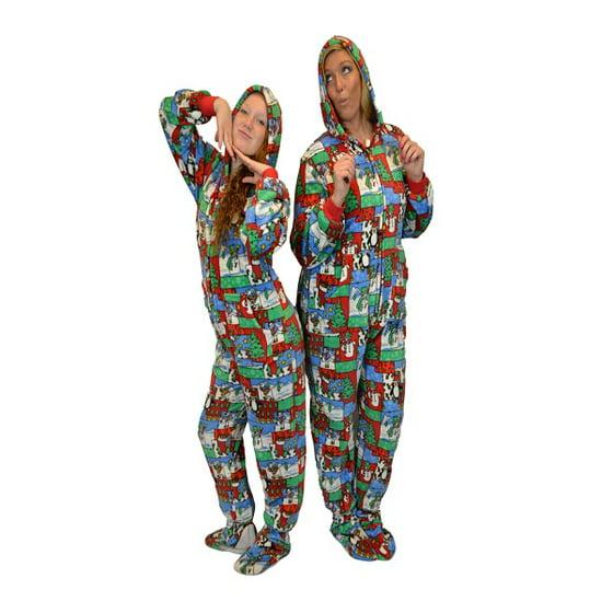 Big Feet Pajamas - Ugly Christmas Sweater One Piece Sleeper Footed ... 43e6e822a