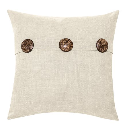 - Better Homes & Gardens Feather Filled Three Button Decorative Throw Pillow, 20