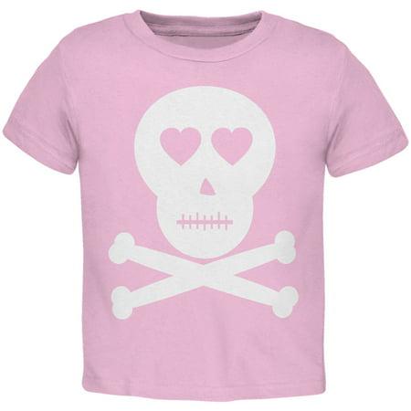 Skull And Crossbones Lovers Pink Toddler