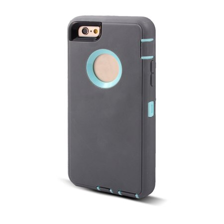 TPU 360 Degree Rotary Belt Clip Protective IPhone Case Gray for iPhone 6