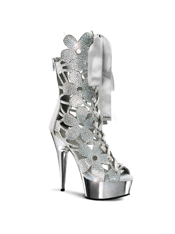 DEL600-36/SVS/SCH Pleaser Platforms Exotic Boots Dancing Ankle/Mid-Calf Boots Exotic Size:12 6d3035