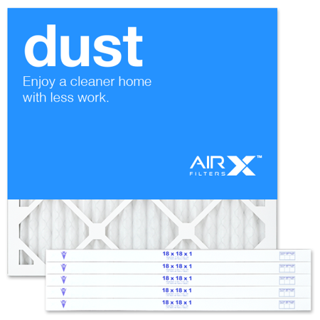 airx filters dust 18x18x1 air filter merv 8 ac furnace pleated air ...