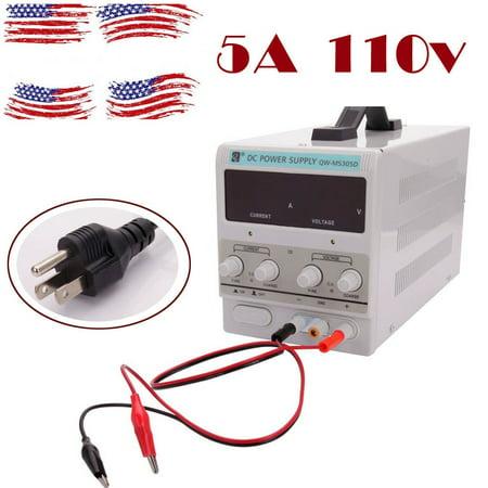 Aluminum Dual Power Supply (QW-MS305D 30V 5A 110V DC Power Supply Adjustable Variable Dual Digital Lab Test)