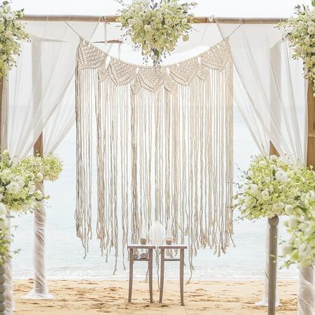 Bohemian Macrame Woven Wall Hanging Tapestry Home Handmade Knitting Door Window Curtain Wedding