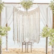 8 Styles Bohemian Macrame Woven Wall Hanging Tapestry Home Handmade Knitting Door Window Curtain Wedding Backdrop