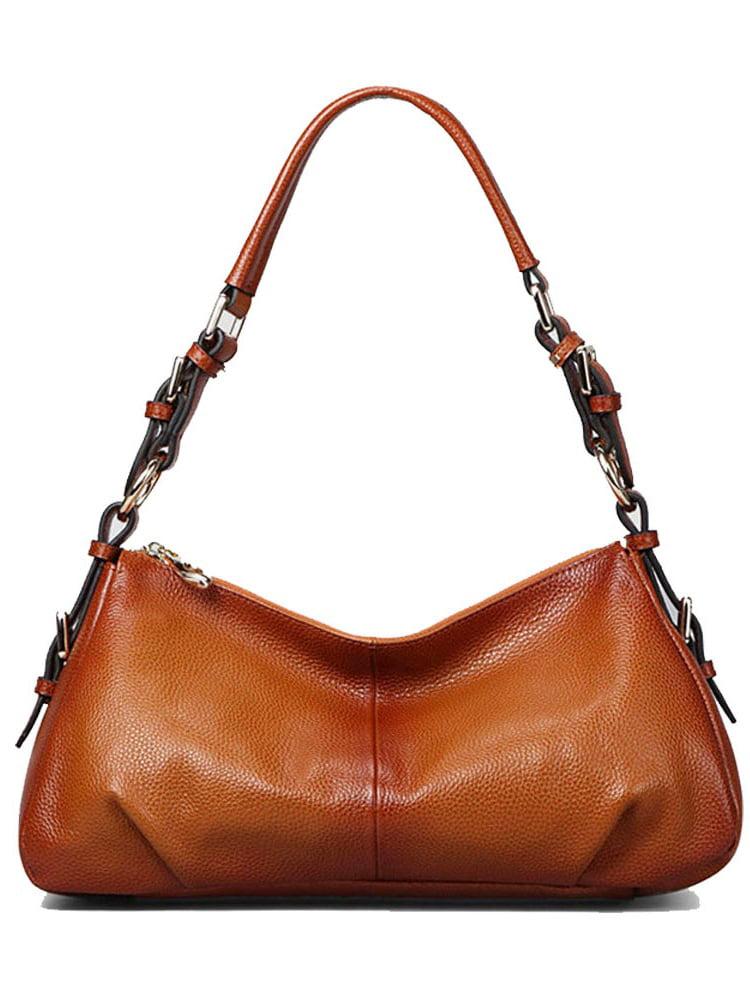 Kattee Ladies' Vintage Leather Hobo Shoulder Handbag (Brown)