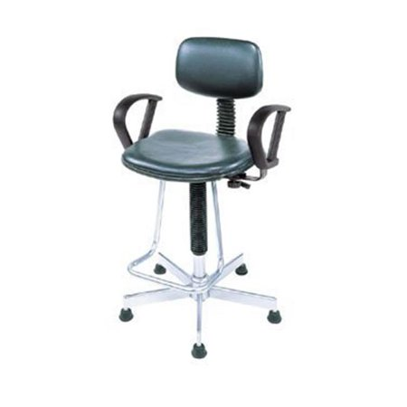 Nexel Industries Ps17lbk Dynamic Design Pneumatic Production Stool With Loop Arms  Black