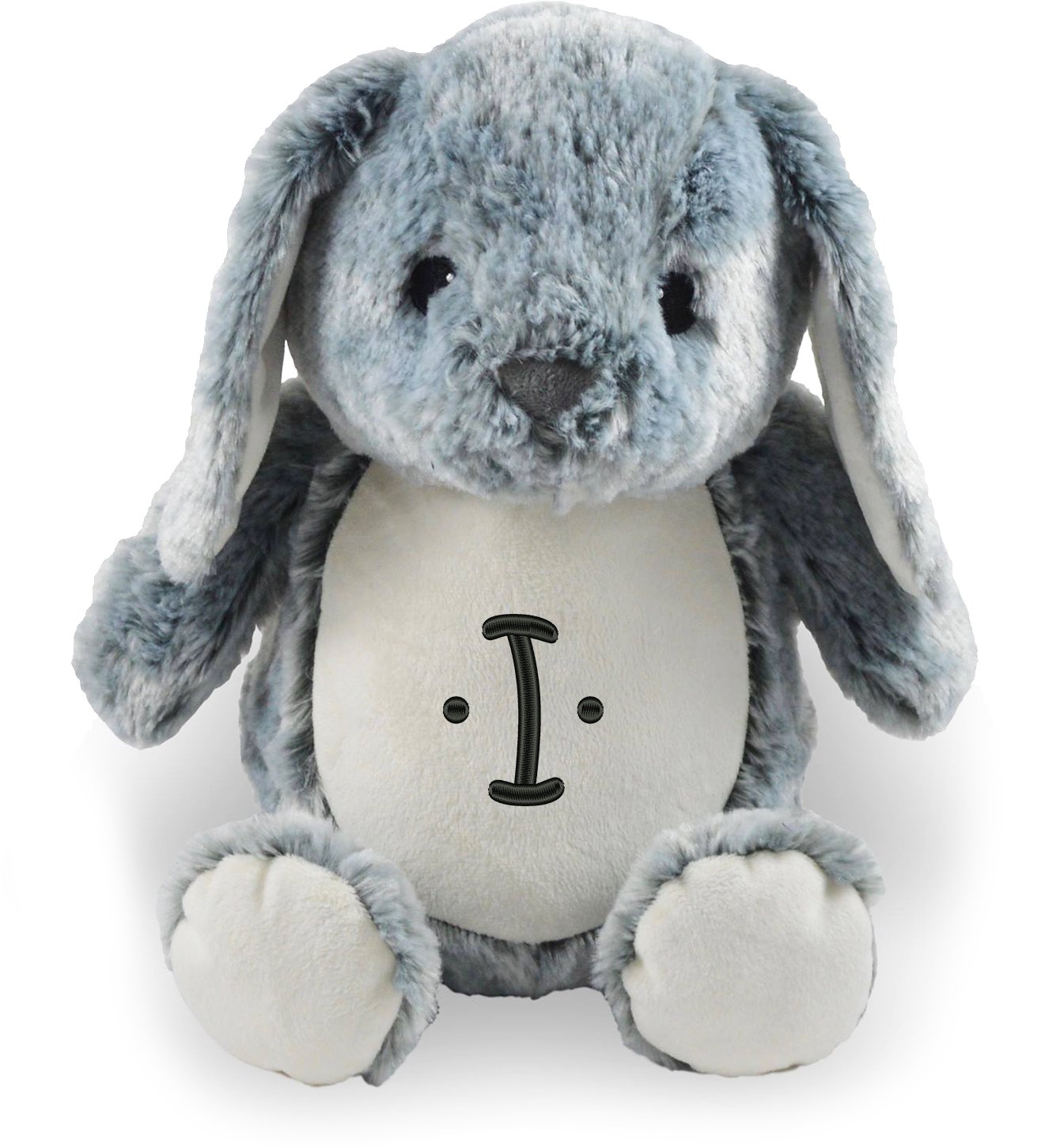 Personalized Stuffed Grey Bunny With Embroidered Letter Walmart Com