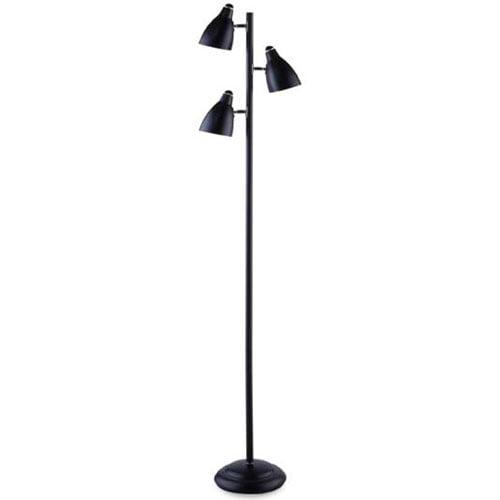 Black Floor Lamp With Reading Lamp Walmart Com