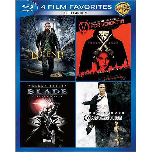 4 Film Favorites: Sci-Fi Action - Blade / V For Vendetta / I Am Legend / Constantine (Blu-ray)