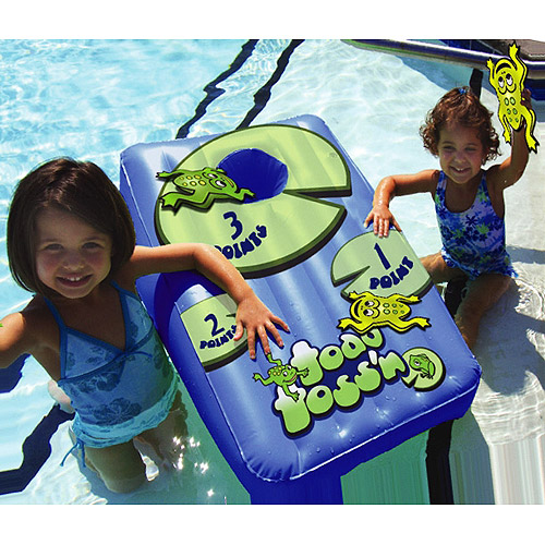 Drive Way Games Floating Cornhole Set Inflatable Corn-Toss Board  Floating Bea