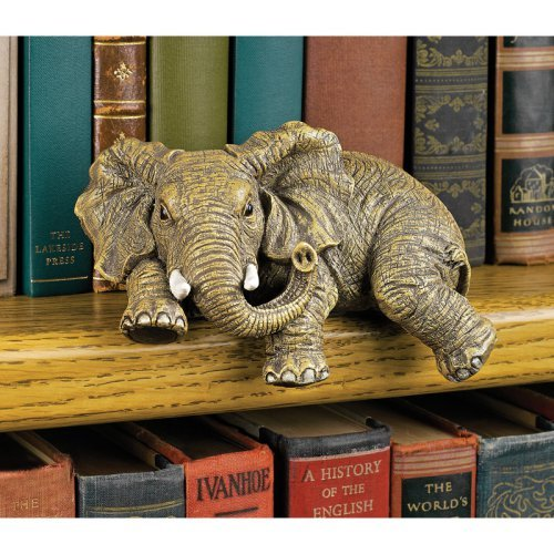 Ernie The Elephant Shelf Sitter Design Toscano Elephant Decoration  Shelf Sitter