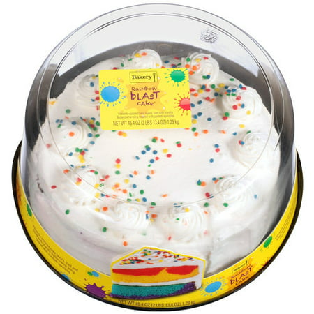 The Bakery At Walmart Rainbow Blast With Vanilla Buttercreme Icing Cake 454 Oz