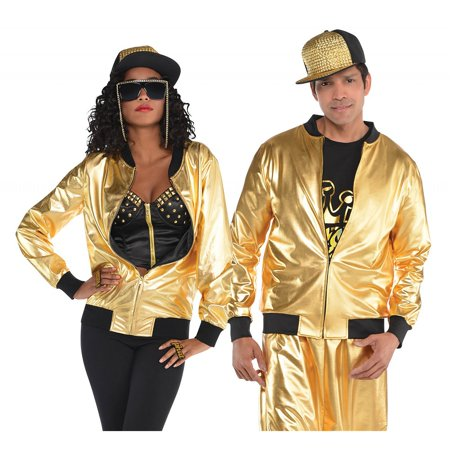 Hip Hop Gold Jacket Adult Costume - Standard (Hip Hop Halloween Playlist)
