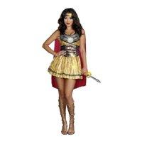 Golden Warrior Adult Plus Costume