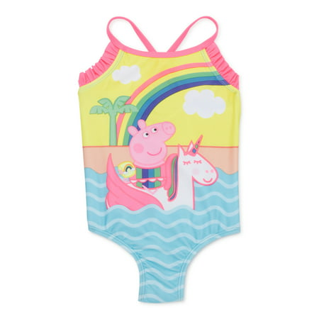 Peppa Pig Baby Toddler Girl One-Piece Swimsuit Toddler Girls One Piece