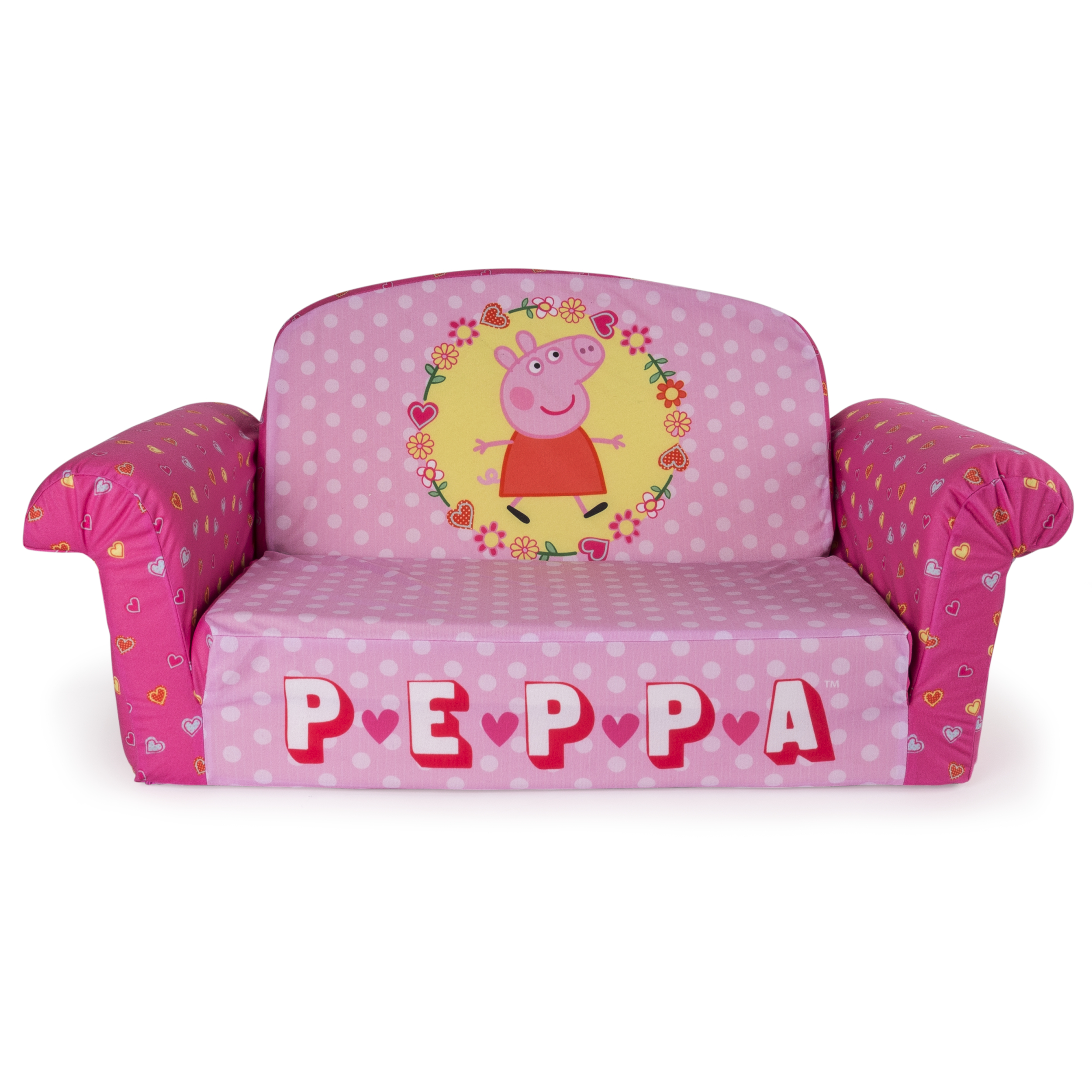 Marshmallow Furniture, Children's 2 in 1 Flip Open Foam Sofa, Peppa Pig, by Spin Master by Spin Master Ltd