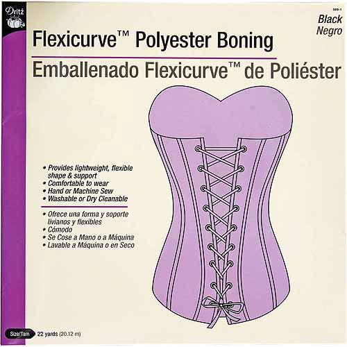 Dritz Flexicurve Polyester Boning, 22 yds
