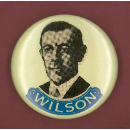 Wilson Campaign Button Ndemocratic Presidential Campaign Button From Woodrow WilsonS 1916 Bid For President Poster Print by Granger Collection
