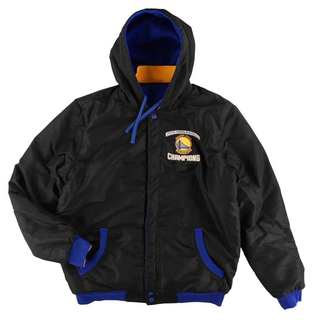 JH Design Group Mens Golden State Warriors 2015 Final Championship Reversible Jacket Royal Blue XL by JH Design Group