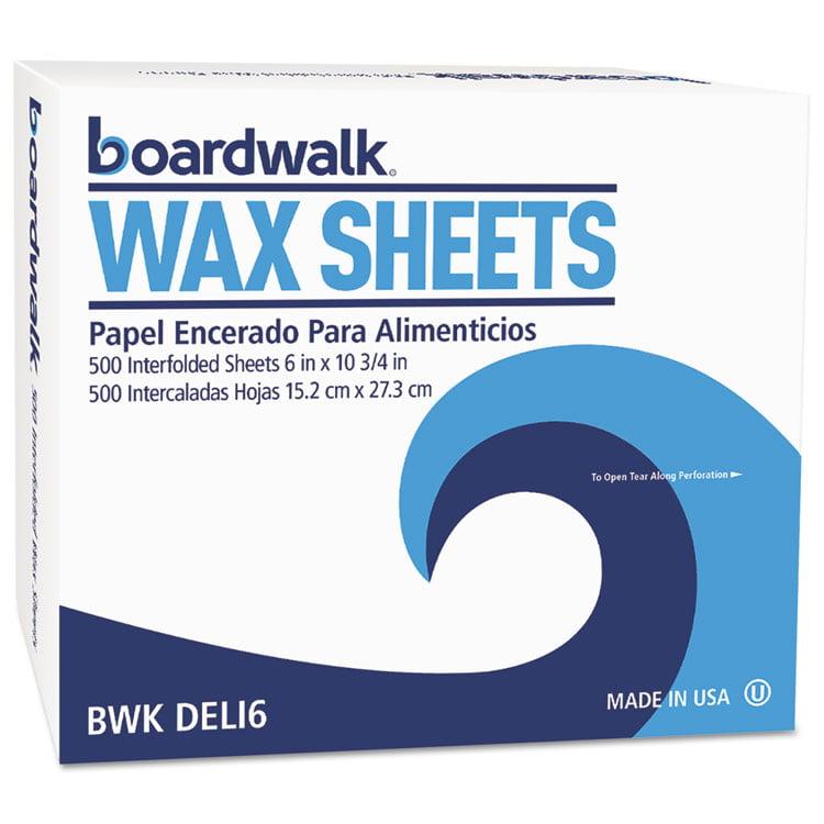 "Interfold-Sheet Deli Paper, 6"" X 10 3/4"", White, 500 Sheets/box, 12 Box/carton"