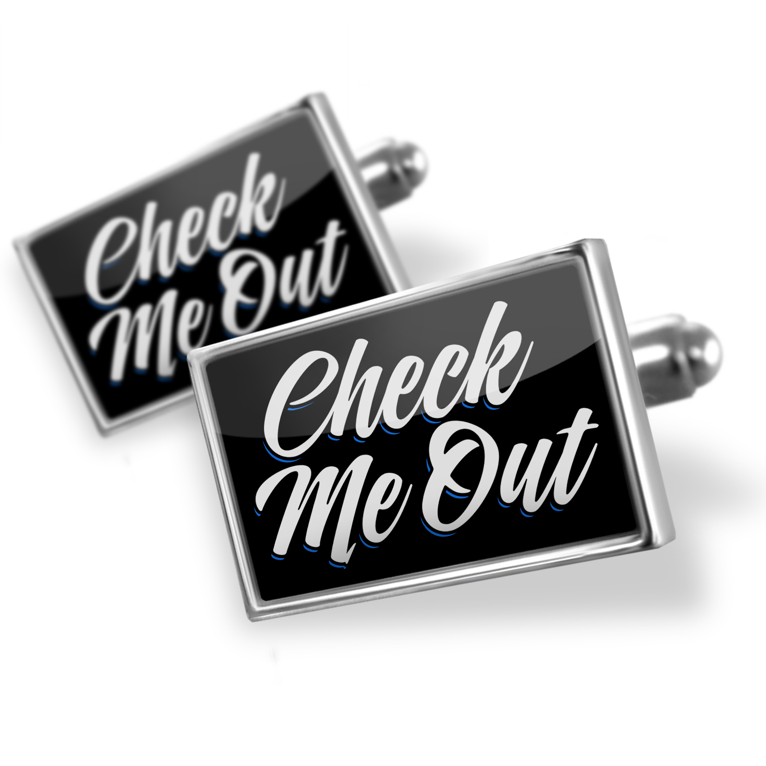 Cufflinks Classic design Check Me Out - NEONBLOND