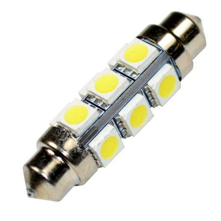 HQRP 360 deg 42mm Festoon 12 LEDs 5050SMD 2.88W 168 Lumen Bulb for 560 569 578 211 212 212-2 2122 214-2 2142 6413 6429 DE3021 DE3022 DE3175 DE3425 DE4410 12844 replacement + HQRP Coaster - image 4 of 4