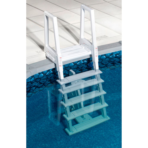Blue Wave Heavy-Duty Deluxe In-Pool Ladder, White