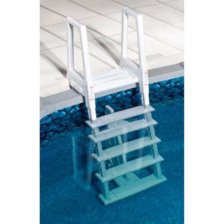 Blue Wave Heavy Duty Deluxe In Pool Ladder White