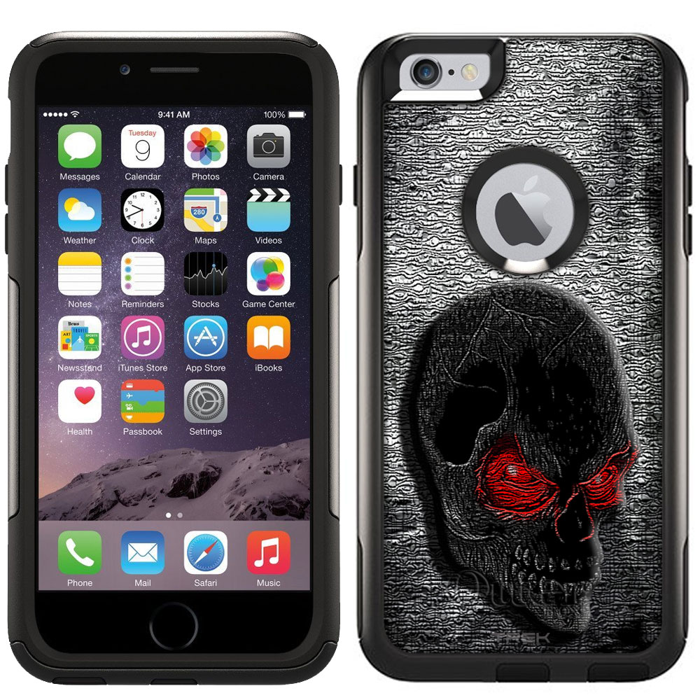 Otterbox Commuter Case for Apple iPhone 6 Plus - Digital Red Eye Skull