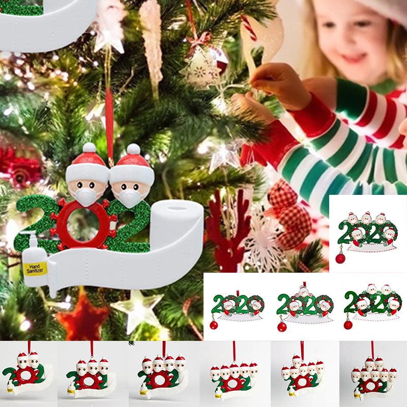 2020 Christmas Tree Hanging Ornament Family Ornaments Santa Claus Photo Frame