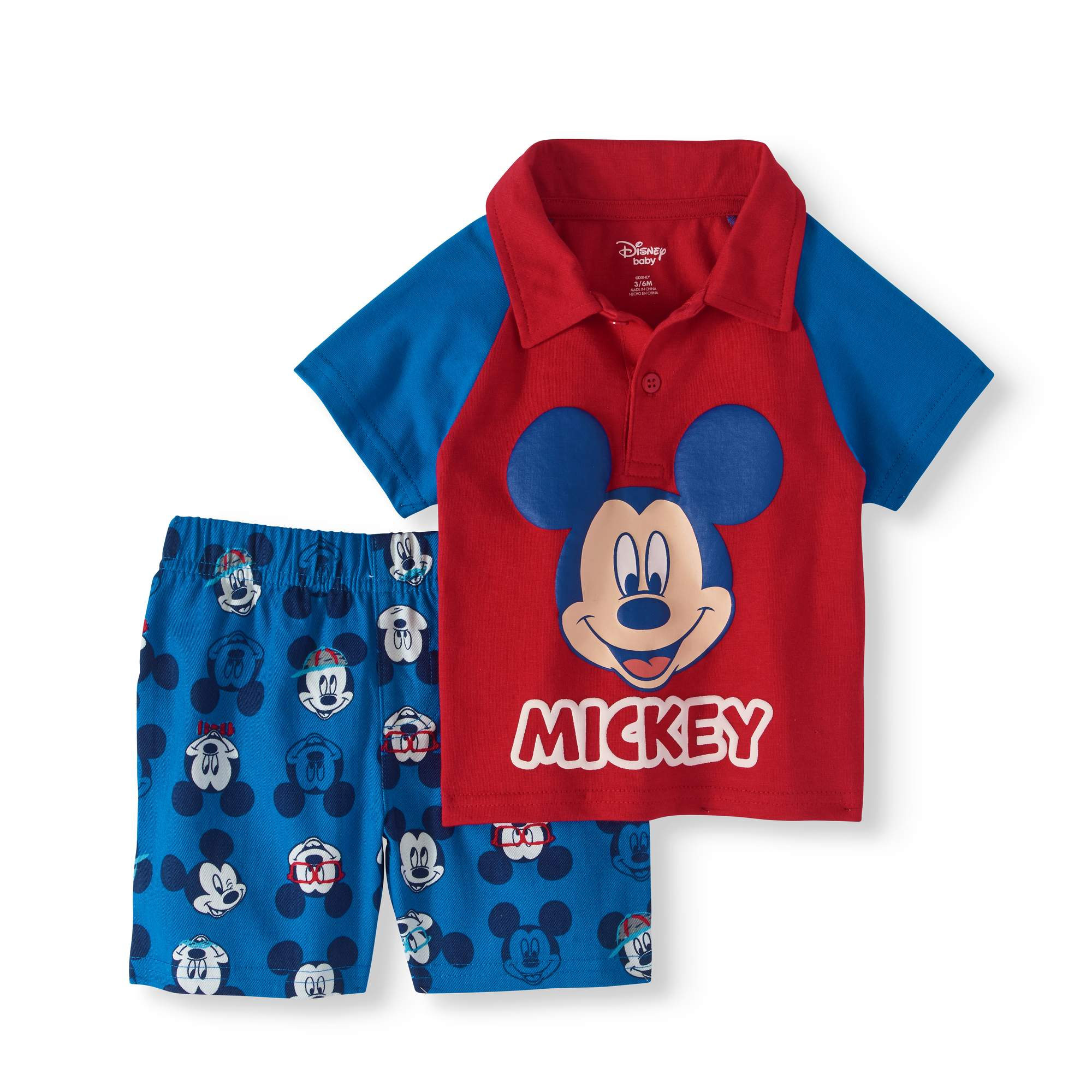 Baby Boy Polo Shirt & Shorts, 2pc Outfit Set