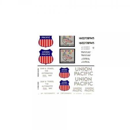 DT603 Boxcar Decals Union Pacific HO (Ho Southern Pacific Boxcar)