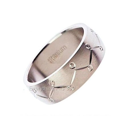 - Titanium Wedding Ring Band Cool Jewelry 8mm By MJ Wide Size