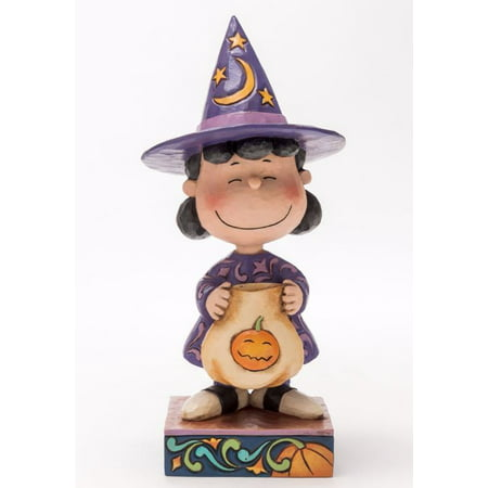 Jim Shore Peanuts Trick or Treat Lucy as Witch Halloween Figurine 4045888 New