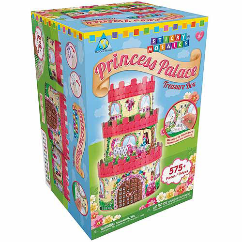 Sticky Mosaics Kit, Princess Palace Treasure Box
