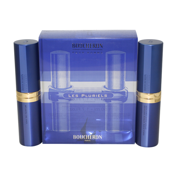 Boucheron 2 Pc. Gift Set ( Eau De Parfum Spray 1.7 Oz + Aftershave Emulsion 1.7 Oz )