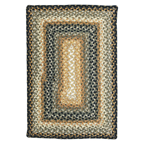 Homespice Cocoa Bean Braided Rectangle Rug - (5 foot x 8 foot)