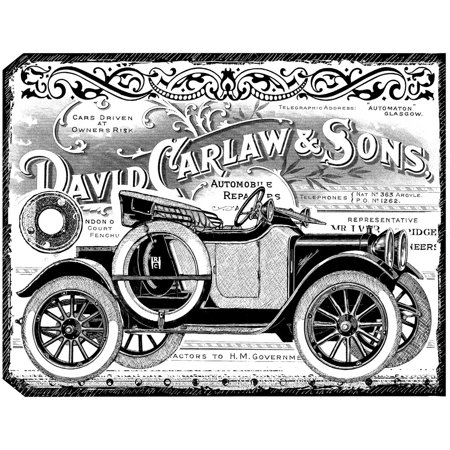 "Crafty Individuals Unmounted Rubber Stamp 4.75""X7"" Pkg-Chunky Vintage Car Tag - image 1 of 1"