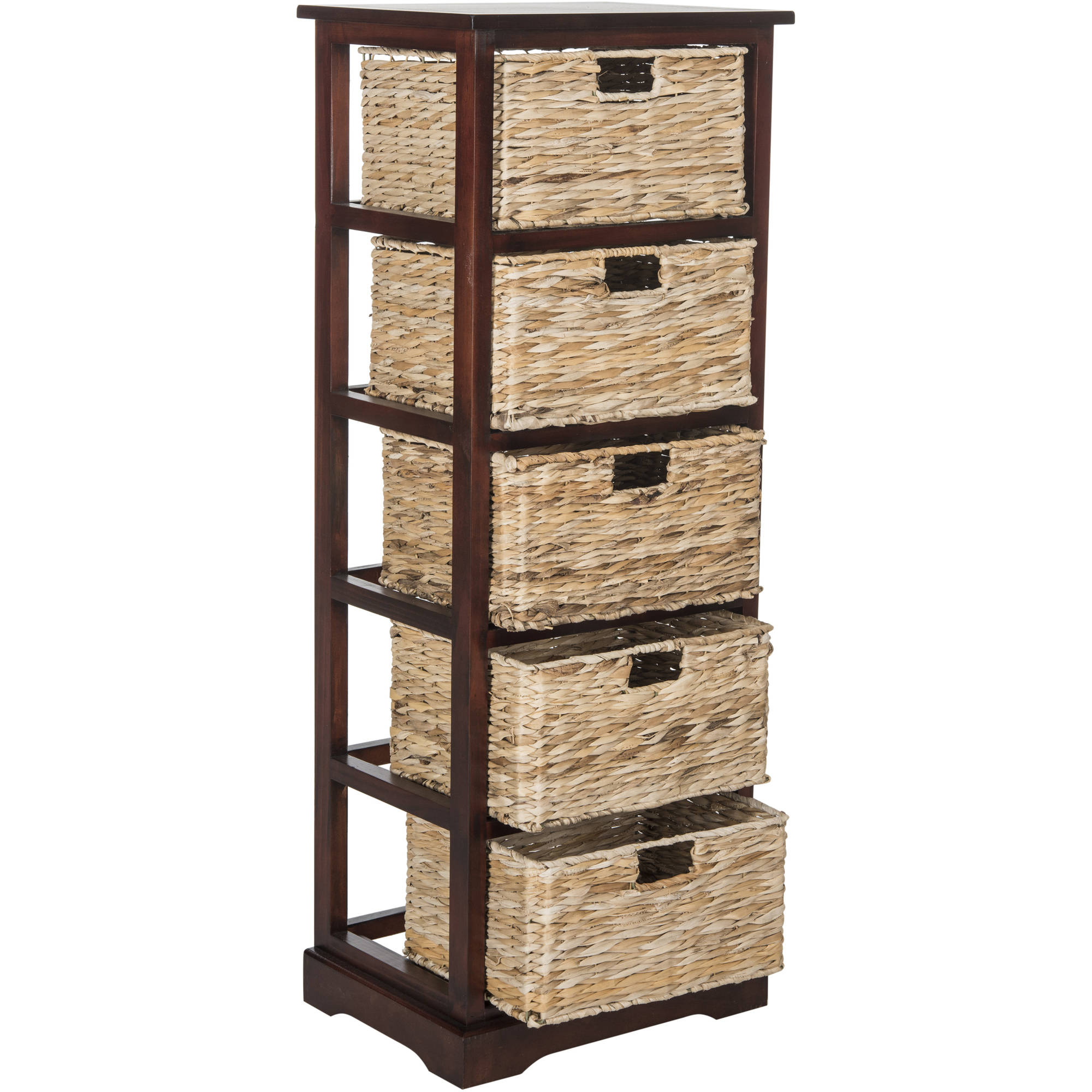 Superior Safavieh Vedette 5 Wicker Basket Storage Tower   Walmart.com