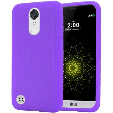 Lg Env2 Skins Covers - Insten Rugged Rubber Silicone Skin Gel Case Cover for LG Grace 4G/Harmony/K20 Plus/K20 V, Purple