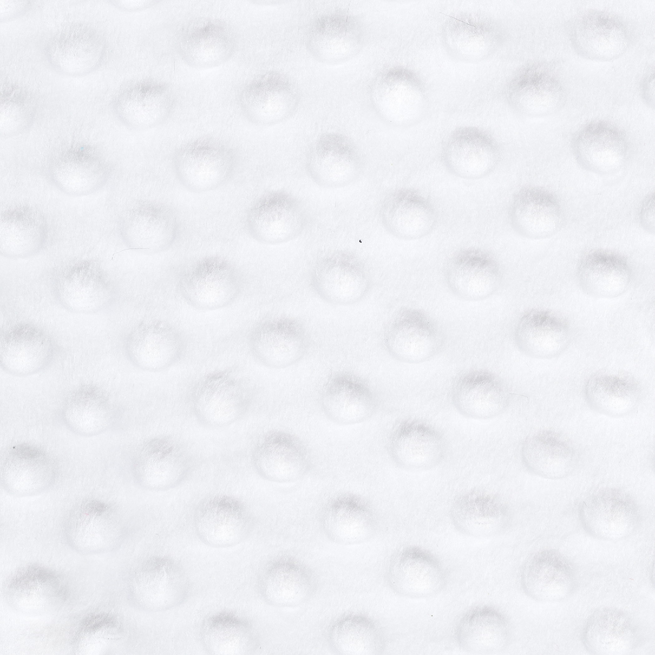 SHASON TEXTILE (2 Yards cut) SOFT CUDDLY MINKY DOT FLEECE, WHITE.