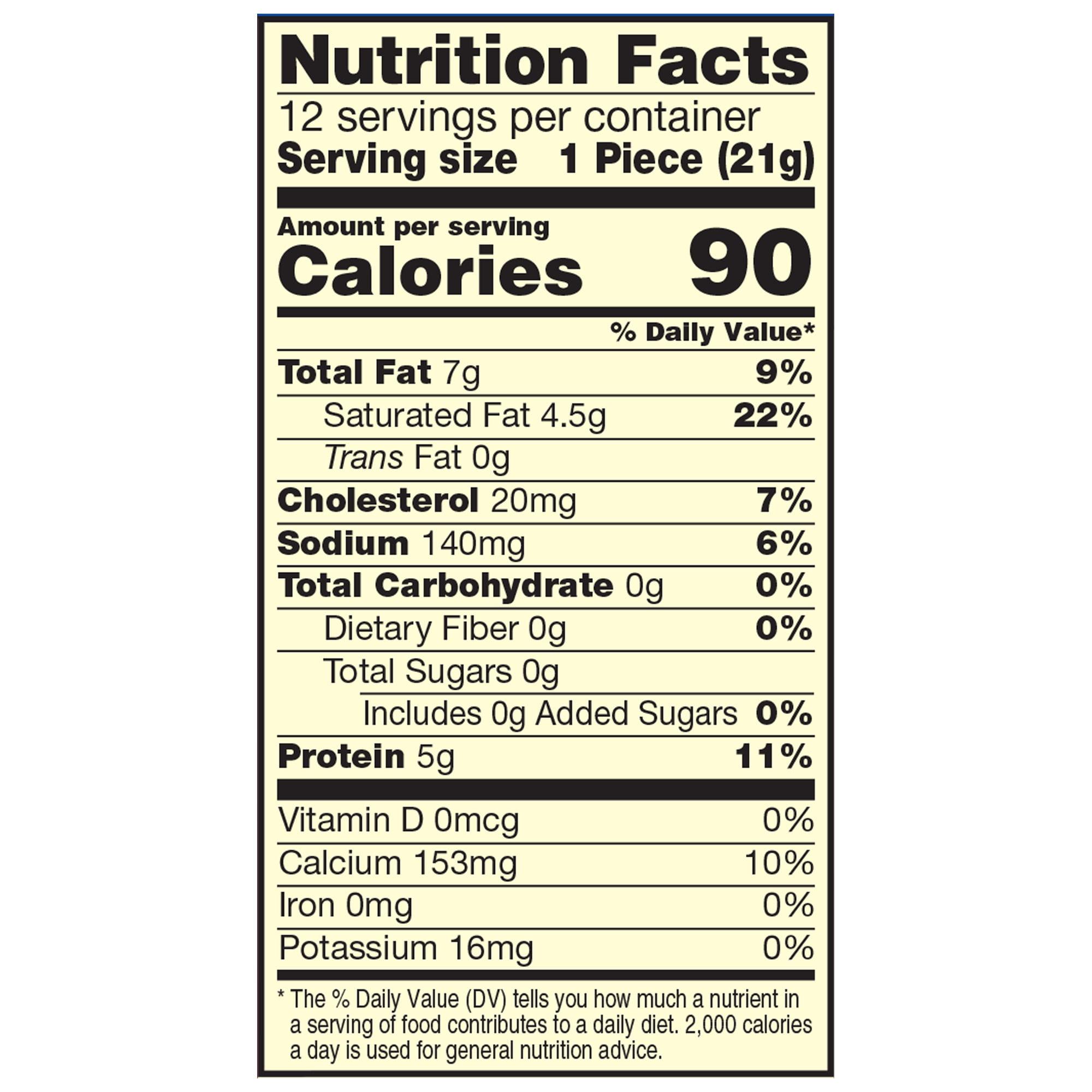 Cheddar Cheese Nutrition - NutritionWalls