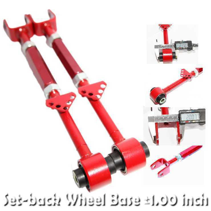 RED Rear Set-back Wheel Base fit 08-14 Accord//09-14 Acura TL TSX Adj.+//-1 inch