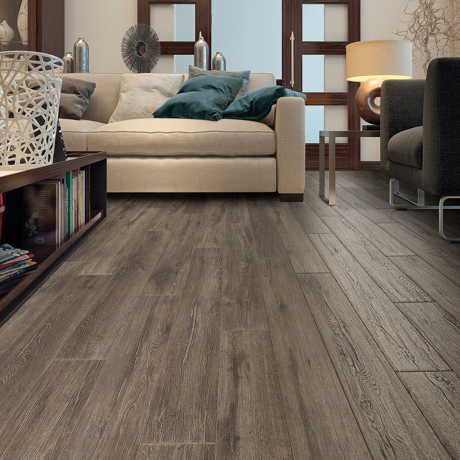 Select Surfaces Laminate Flooring, Silver Oak (6 Planks, 12.50 sq. ft.)