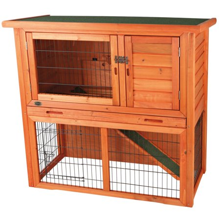 Rabbit Hutch with Sloped Roof (S) (brown)