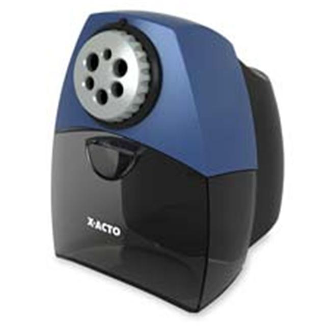 Elmerft.s Products Inc EPI1675 Pencil Sharper- Auto Shutoff- 7in.x8-.38in.x10-.50in.- Black-Blue