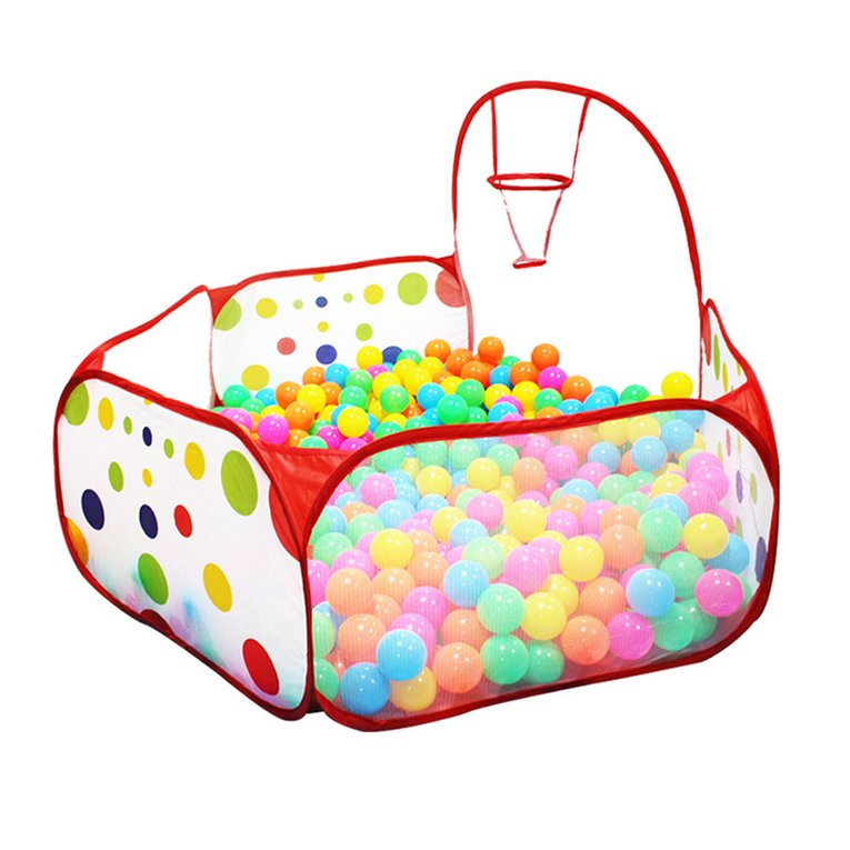 Polka Dot Pattern Foldable Kids Play House Tent Outdoor Basketball Tent