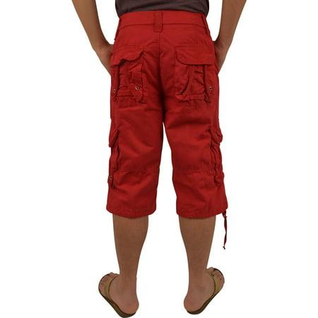Mens Military Red Cargo Shorts #1048 Size 30 - Walmart.com