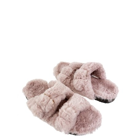 Secret Treasures Women's Luxe Two-Band Slippers
